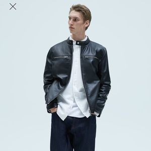 Zara Men Lambskin Leather Classic Biker Jacket M